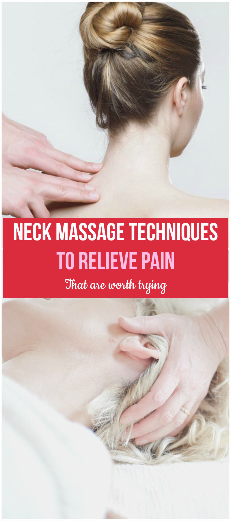 Neck massage techniques you can try at home with your partner or friend. Great way to relieve neck pain and enjoy your life a little! #painrelief #neckmassage #massagetips