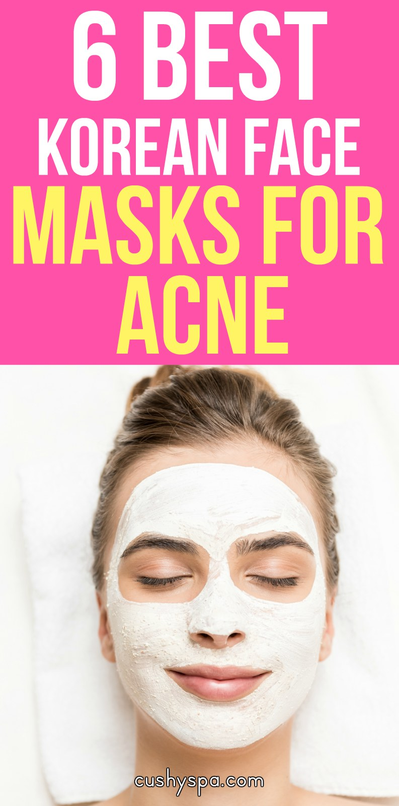 A fan of Korean masks? Need a face mask for acne? Want to get rid of acne? Here are 6 best Korean face masks for acne! (acne treatment) #acnetreatment #acnetips #acnecare