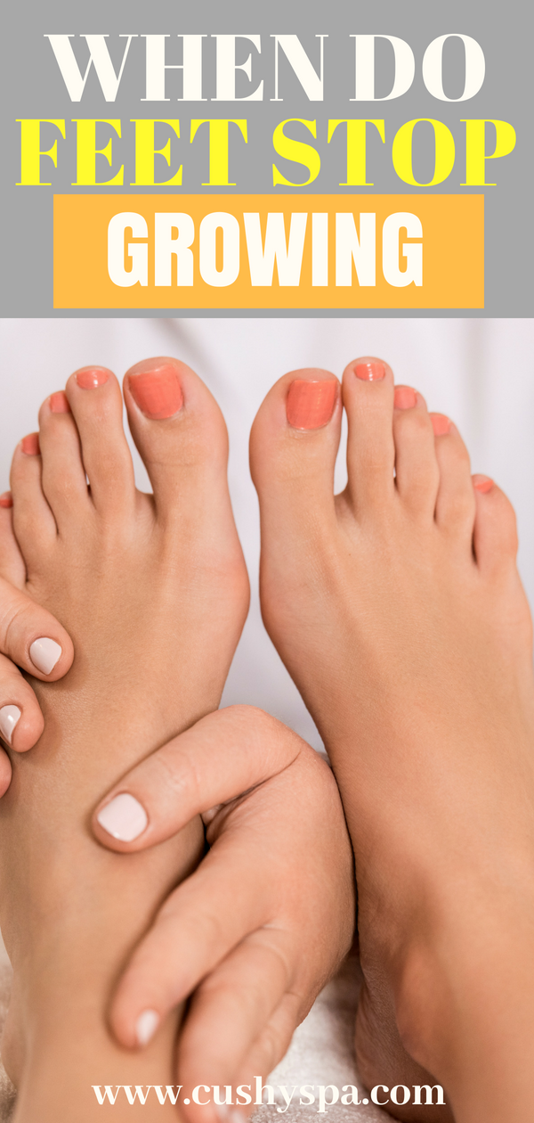 So when do feet stop growing? Here are all the factors that impact that! Learn more about feet care too! #feetcare #footcare #foottips
