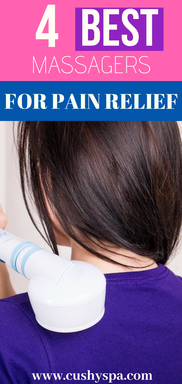 Looking for pain relief? Need to get rid of muscle pain? Here are 4 best percussion massagers that will do just that! #massage #painrelief #getridofpain