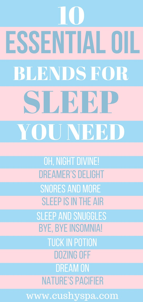 10 essential oil blends for sleep infographic