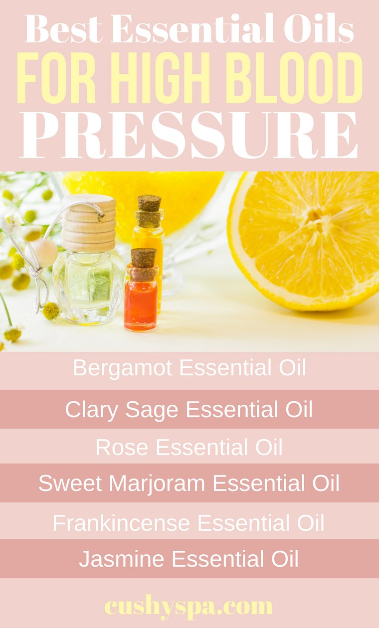 Best Essential Oils for High Blood Pressure Infographic