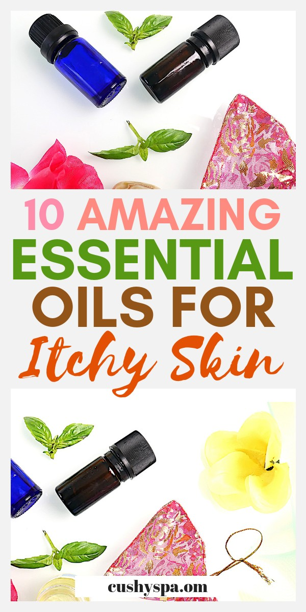 Looking for itchy skin remedies, essential oils for itching might be exactly what you need. Try some of the essential oil blends inside too! #essentialoils #skincare #skintips #aromatherapy