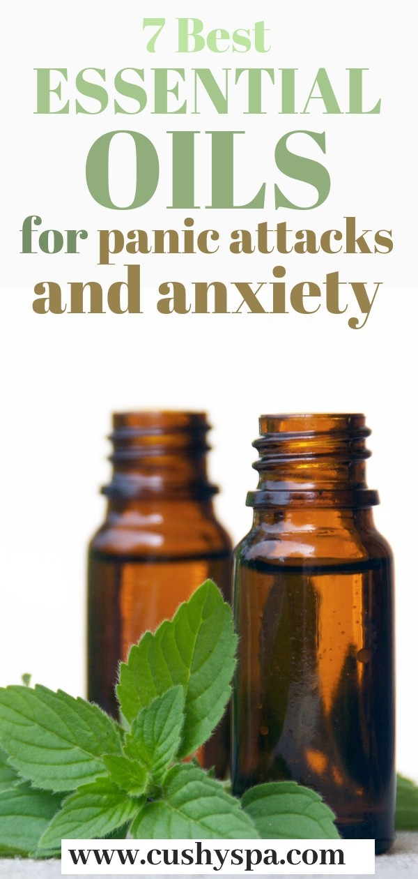 Here are 7 best essential oils for panic attacks and anxiety. Works well if you want to relieve stress, feel calmer and more in control of yourself. #stressrelief #anxietyrelief #aromatherapy