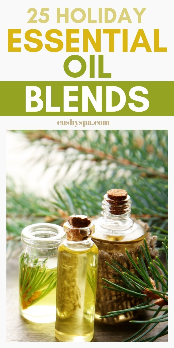 25 holiday essential oil blends