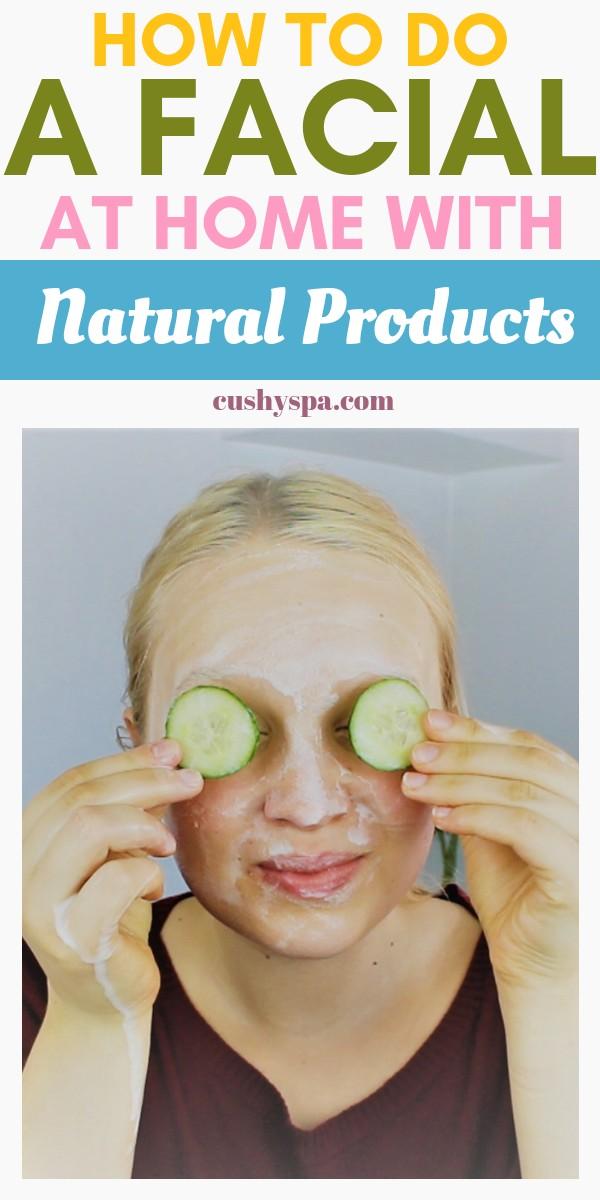 Want to have beautiful facial skin? Here is the tutorial on how to do a facial at home with natural products. Enjoy your DIY facial! #diyskincare #diyfacial #diyfacecare