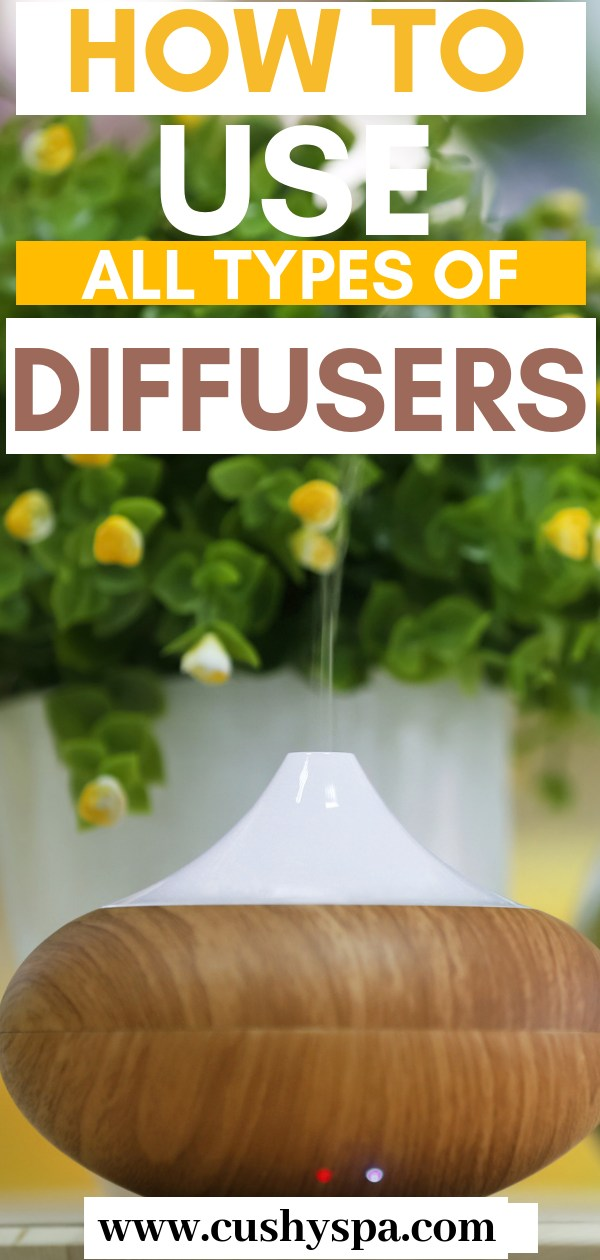 Diffusing essential oils can bring so many health benefits! Improve your sleep quality, skin texture, breathing, relieve stress, etc. Here are tips on how to use essential oils diffusers at home! #aromatherapy #essentialoils #essentialoil