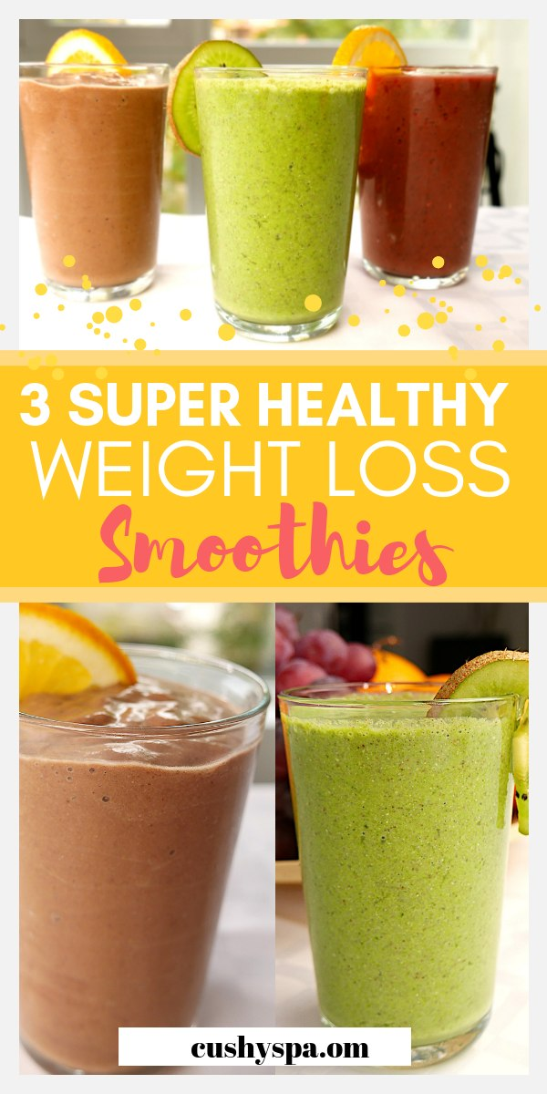 3 super healthy weight loss smoothies