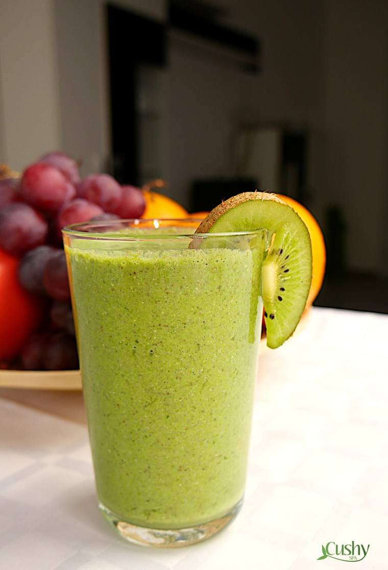 hemp, chia, spinach smoothie