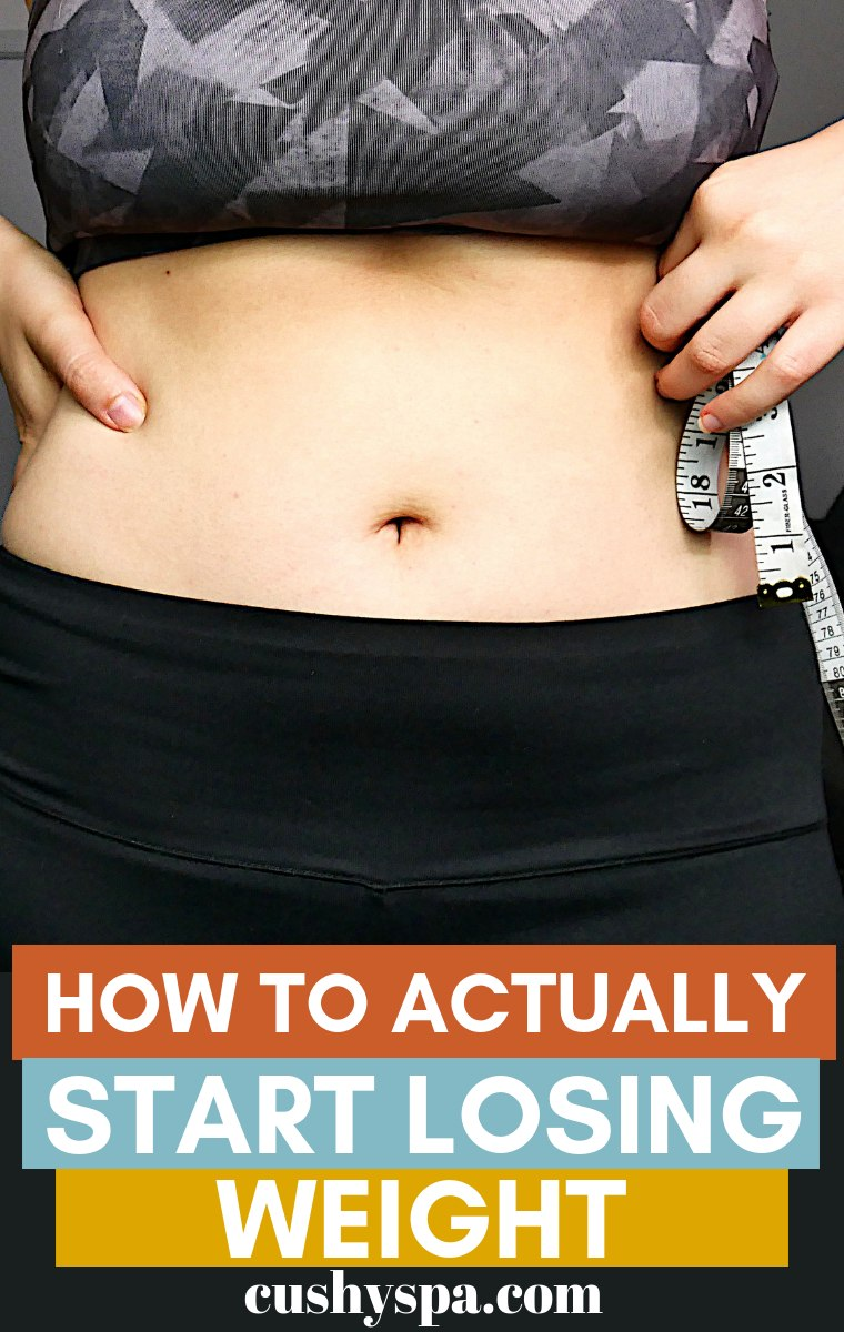 how to actually start losing weight