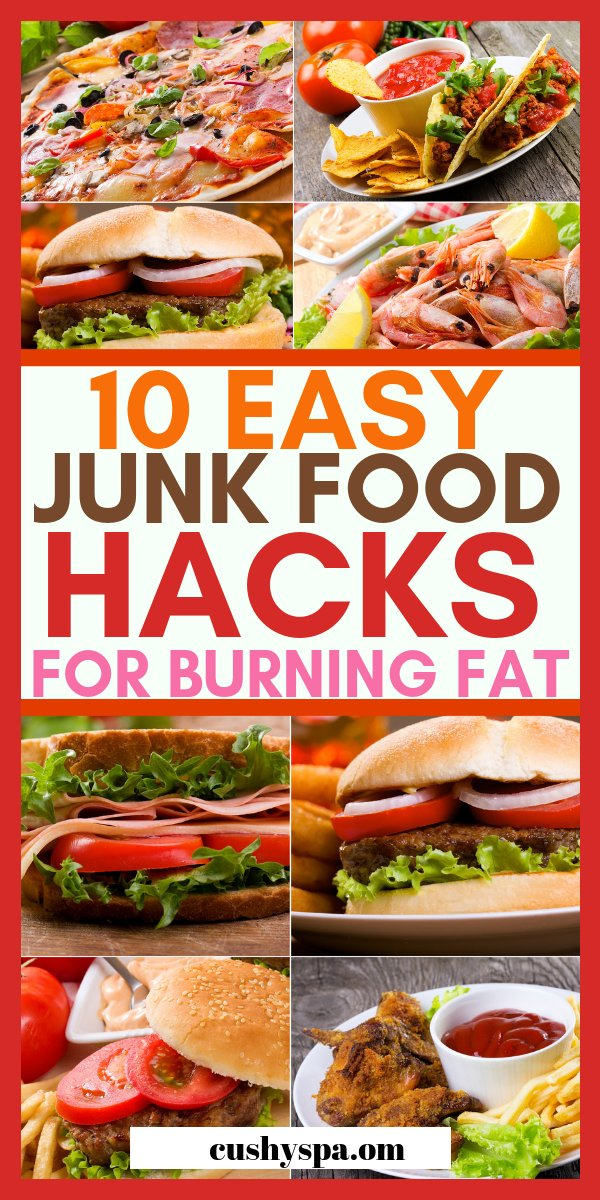 Here are 10 junk food hacks. These tricks will help you to make healthy junk food at home and stay on your diet. Forget junk food cravings.