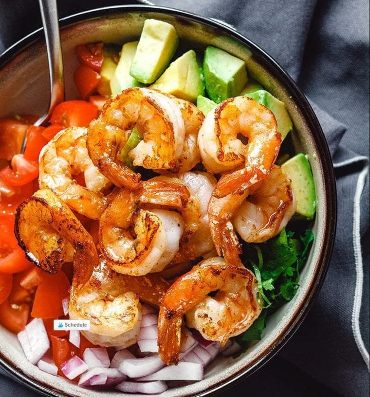 Shrimp Avocado Salad with Tomatoes