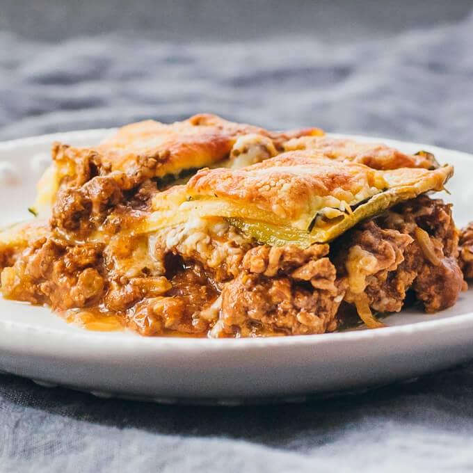 Zucchini Lasagna with Ground Beef