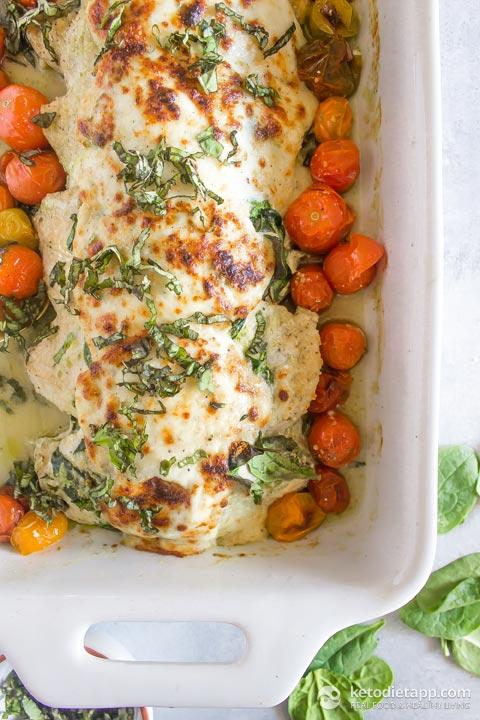 Pesto Caprese Chicken Casserole