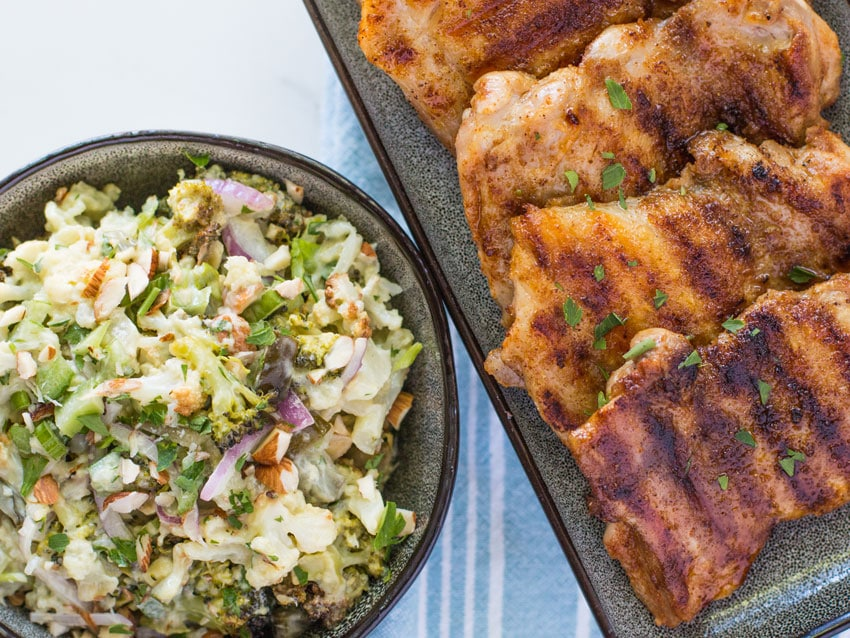 Cauliflower Salad with Grilled Chicken