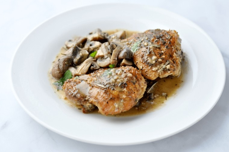 Herbed Chicken and Mushrooms