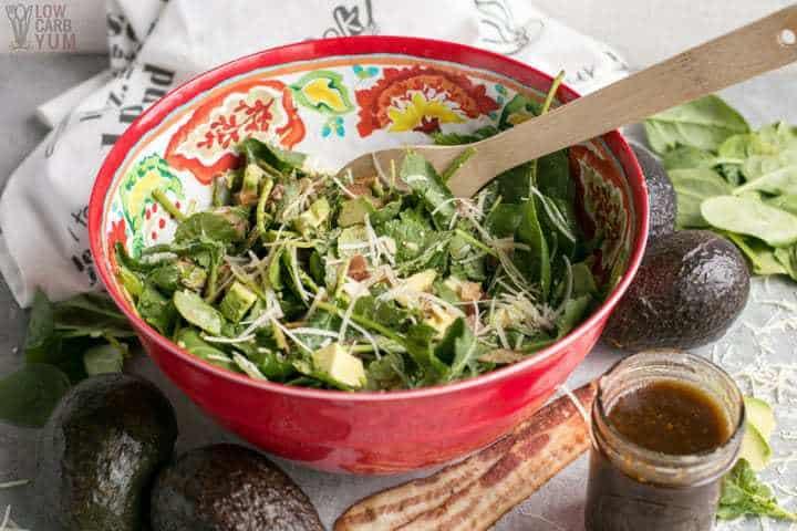 Baby Kale Avocado Salad with Parmesan