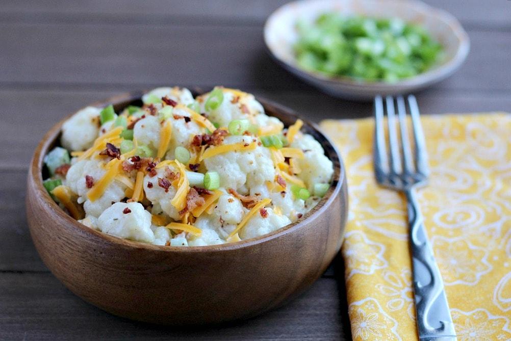 Loaded Bacon Ranch Cauliflower Salad