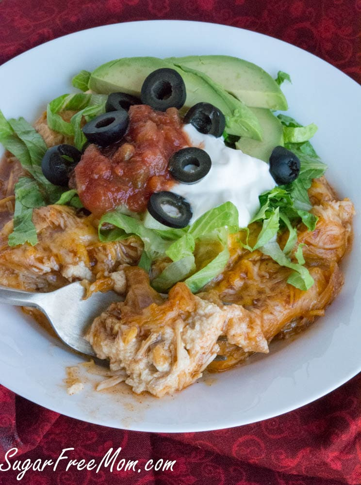 Chicken Enchilada Cauliflower
