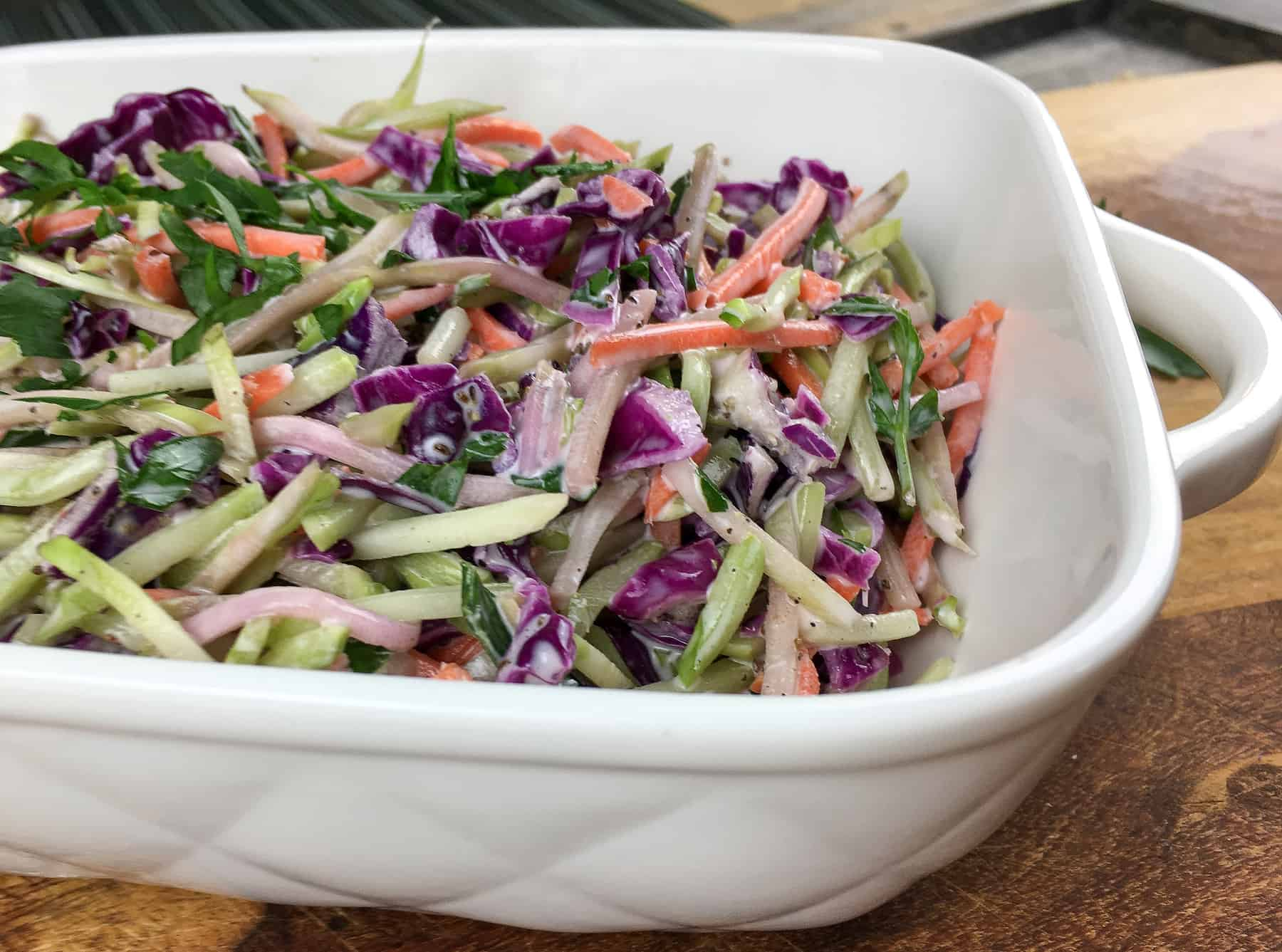 Quick and Crunchy Keto Coleslaw