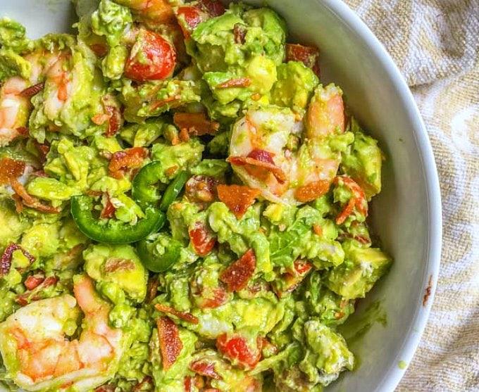 Avocado Shrimp Salad with Bacon