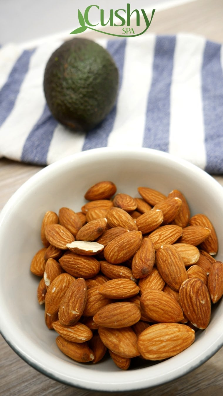 almonds snacking