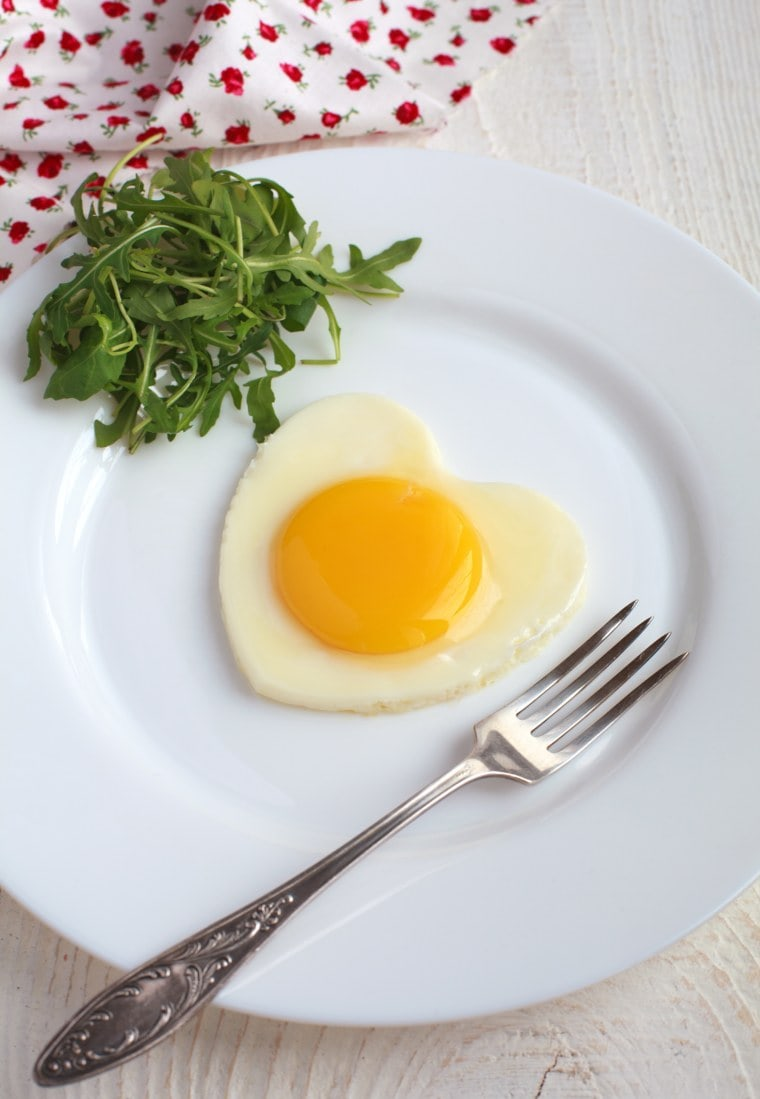 Fried Eggs with Rocket Salad