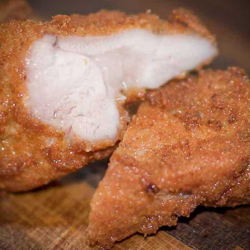 Keto Fried Chicken with Breading