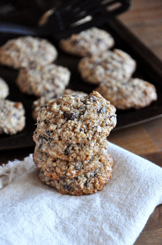 Almond Cookies with Chocolate and Coconut