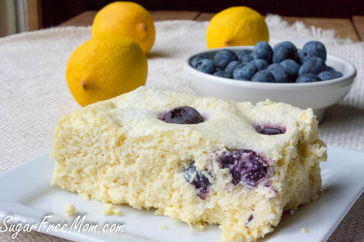 Blueberry Lemon Custard Cake