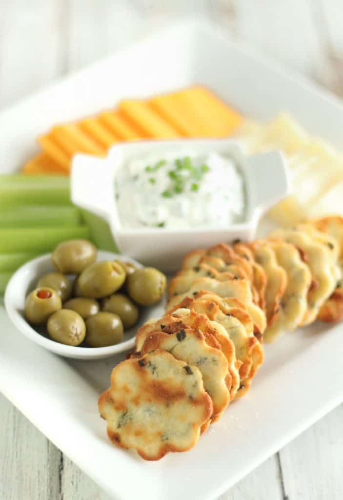 Sour Cream and Chive Crackers