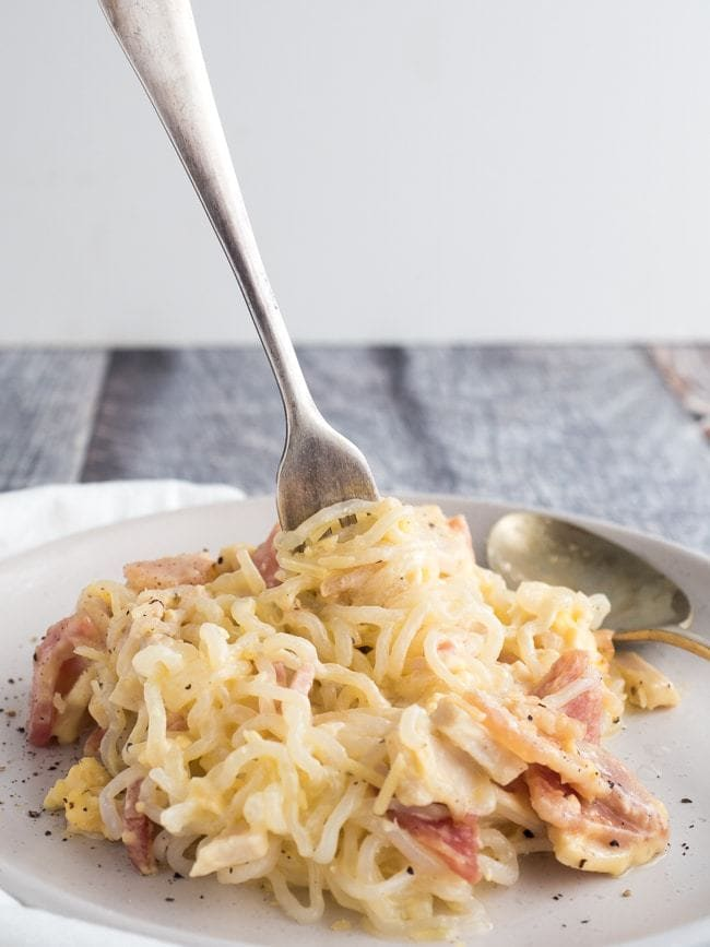 Keto Carbonara Pasta