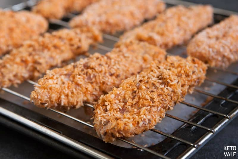 Coconut Chicken Tenders with Flaxseeds