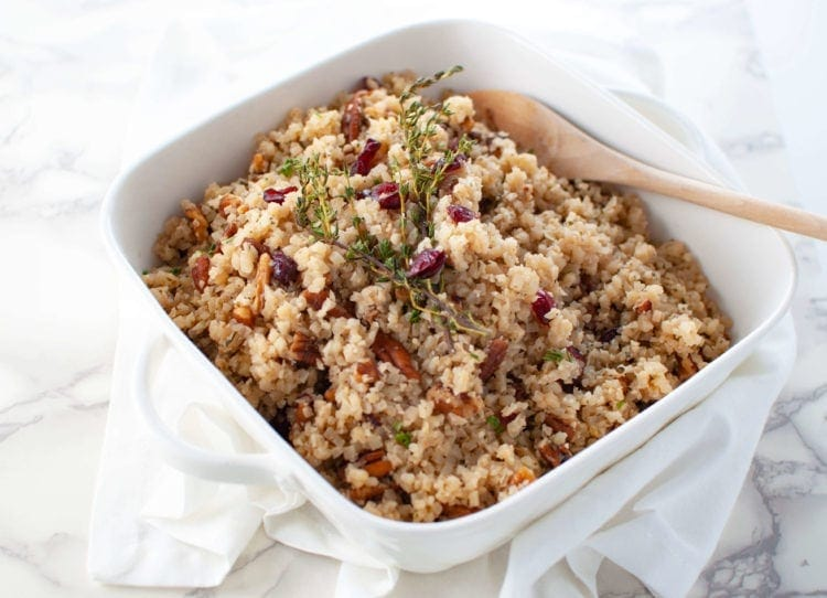 Cranberry Pecan Cauliflower Rice