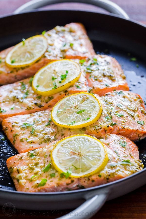 Salmon with Garlic and Dijon