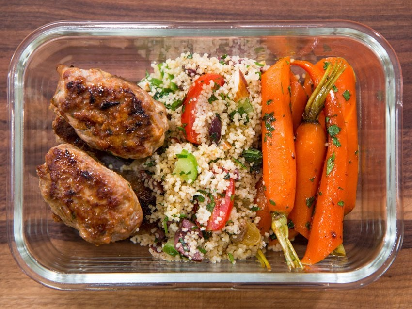 Turkey Kefta and Glazed Carrots
