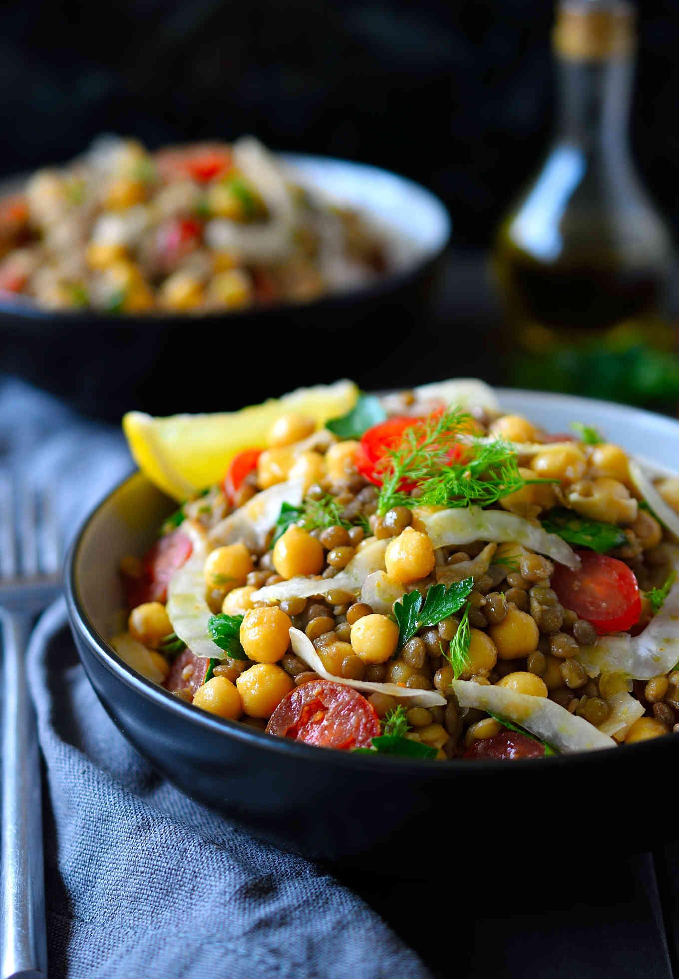 Bean and Lentil Salad