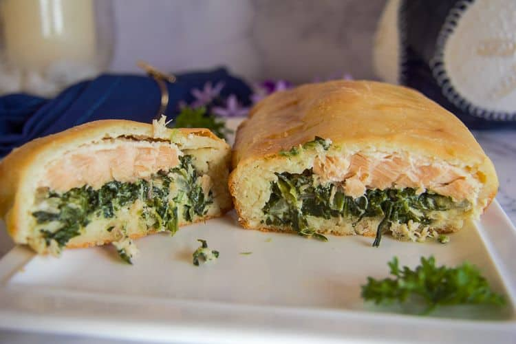 Keto Salmon Spinach