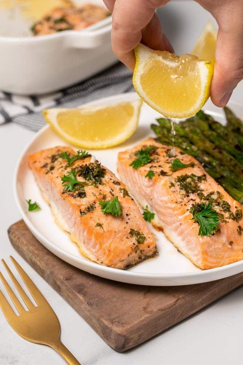 Salmon with Garlic Butter