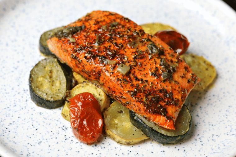 Air Fryer Herbed Salmon