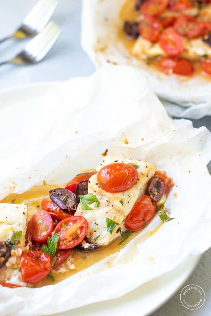 Mediterranean-Style Fish in Parchment