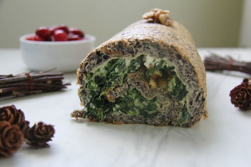 Mushroom and Spinach Roulade