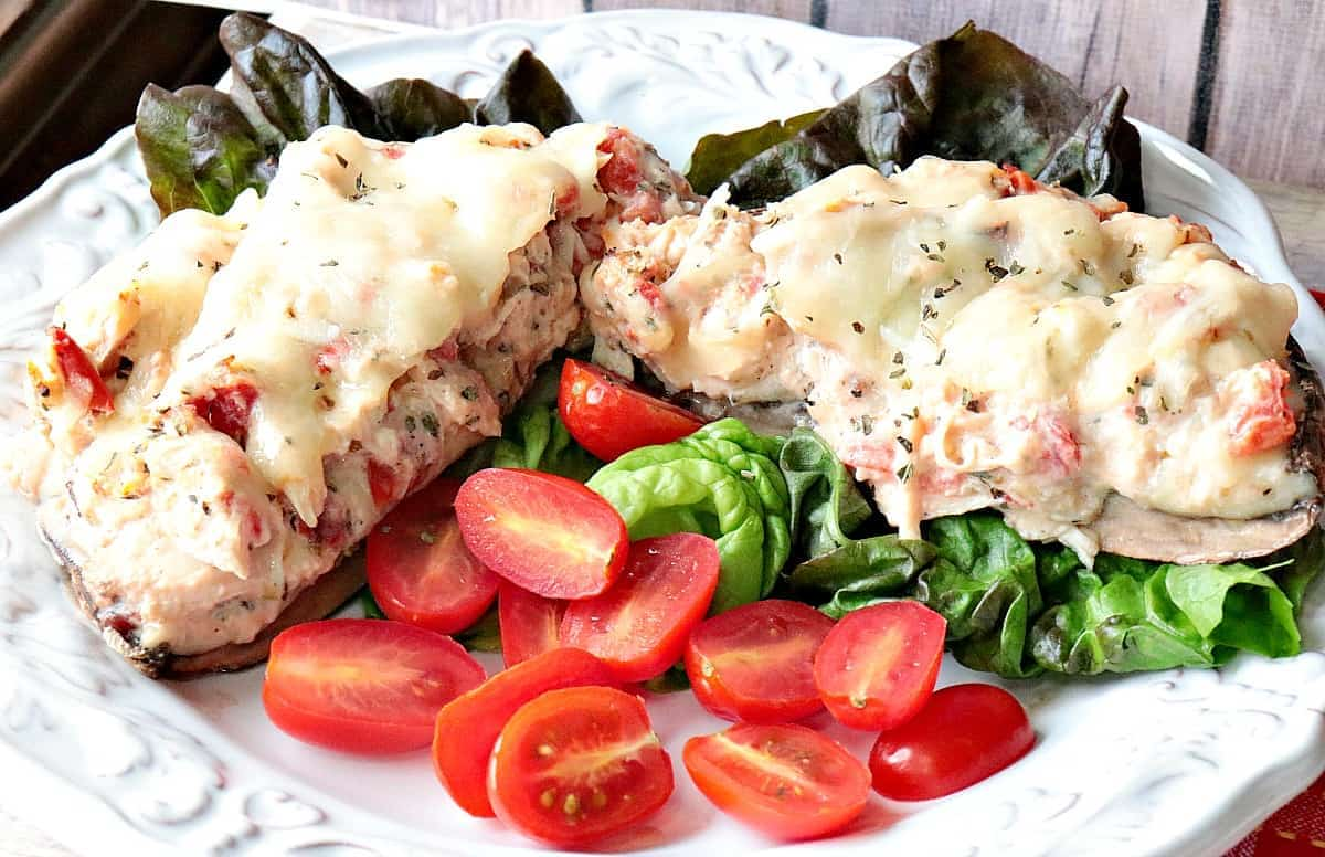 Parmesan Stuffed Portobello Mushrooms