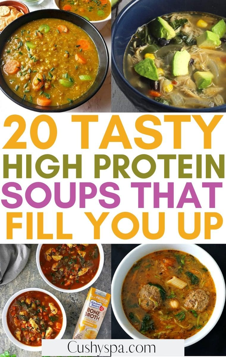 high protein soups