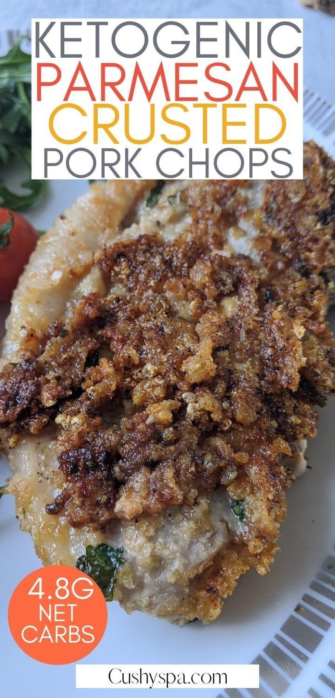 Ketogenic Parmesan Crusted Pork Chops