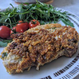 Parmesan Crusted Pork Chops (Keto, Gluten-free)