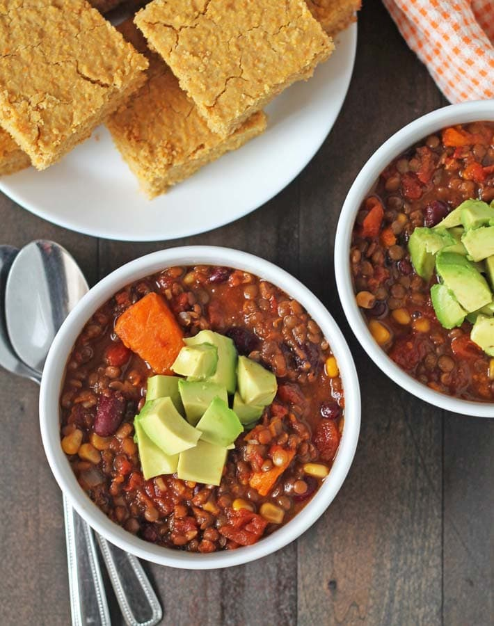Lentil Sweet Potato Chilli