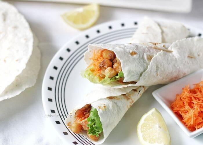 Vegan Wraps With Curried Chickpeas