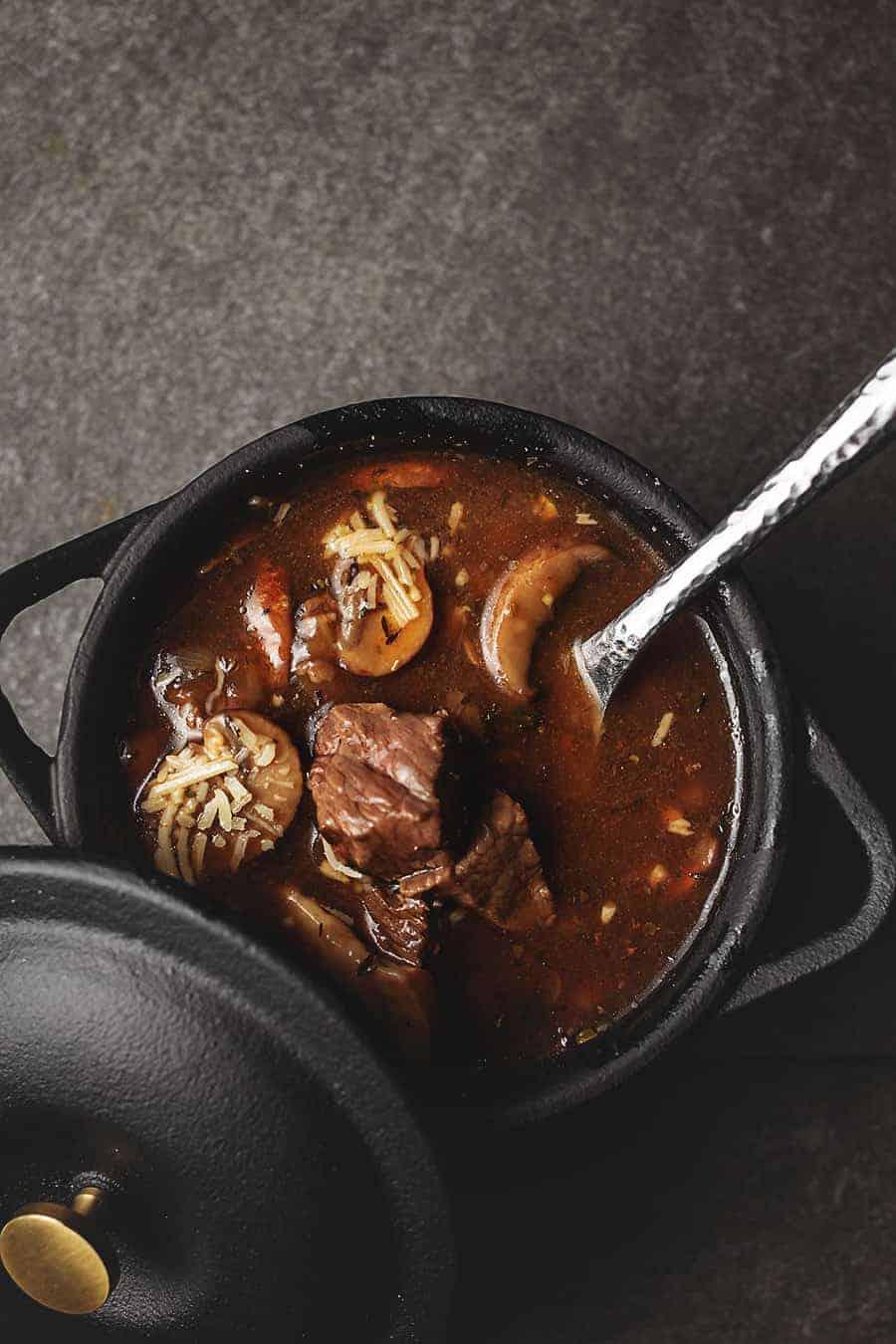 Leftover Steak Soup