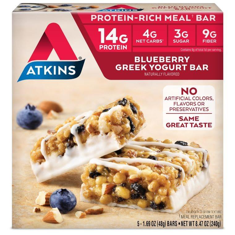 Atkins Blueberry Greek Yogurt Meal Bar
